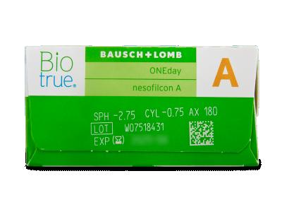 Biotrue ONEday for Astigmatism (90 лещи) - Преглед на параметри