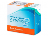 Торични контактни лещи за коригиране на астигматизъм - PureVision 2 for Astigmatism (6лещи)