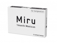 Евтини месечни контактни лещи онлайн - Miru 1 Month Menicon for Astigmatism (6 лещи)