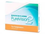 Bausch and Lomb - лещи за очи, разтвори и капки - PureVision 2 for Astigmatism (3лещи)