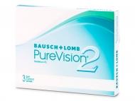 Евтини месечни контактни лещи онлайн - PureVision 2 (3лещи)