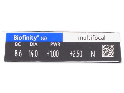 Biofinity Multifocal (6лещи) - Преглед на параметри