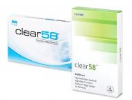 Евтини месечни контактни лещи онлайн - Clear 58 (6лещи)