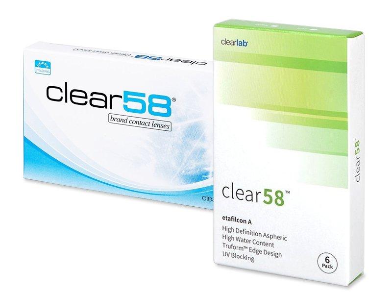 Clear 58 (6лещи) - Двуседмични контактни лещи