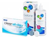 Лещи, разтвори и капки за очи. Ниска цена - Clear All-Day (6лещи) +разтворGelone360 мл.