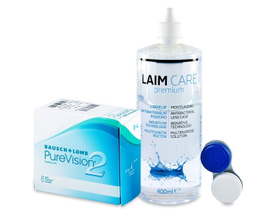 PureVision 2 (6 лещи) + разтвор Laim-Care 400 мл.