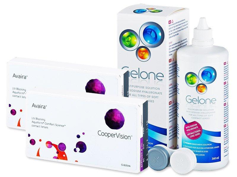 Avaira (2x3лещи) + разтворGelone360 мл - Пакет на оферта