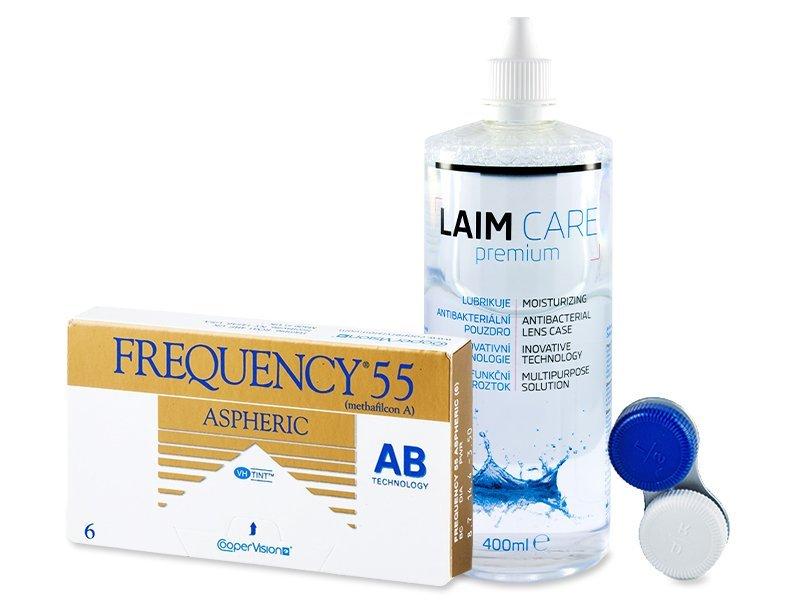 Frequency 55 Aspheric (6лещи) + разтворLaim-Care400 мл. - Пакет на оферта