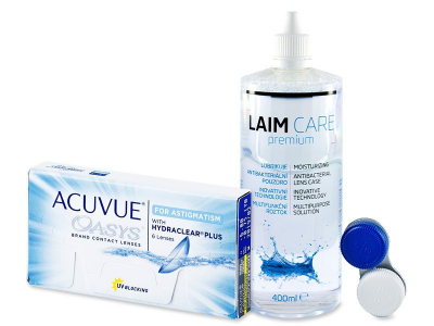 Acuvue Oasys for Astigmatism (6 лещи) + разтвор Laim-Care 400ml