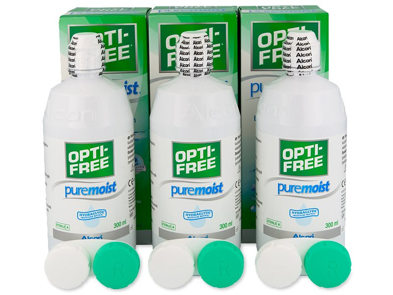Разтвор Opti-Free PureMoist 3 x 300 ml