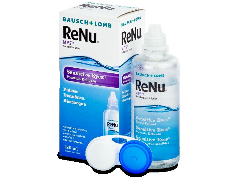 Разтвор Sensitive Eyes ReNu MPS 120 ml  - Разтвор за почистване