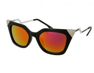 Слънчеви очила - Слънчеви очила Alensa Cat Eye Искрящо черно огледало