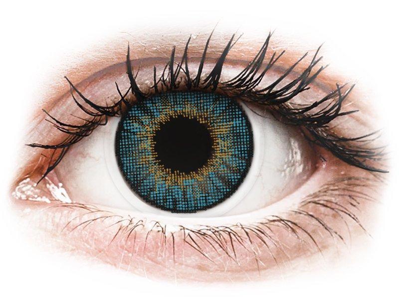 Сини (Blue) - Air Optix Colors - с диоптър (2лещи) - Coloured contact lenses