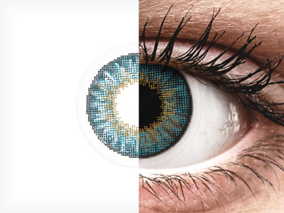 Сини (Blue) - Air Optix Colors - с диоптър (2лещи)