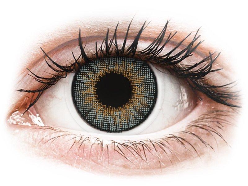 Сиви (Grey) - Air Optix Colors - с диоптър (2лещи) - Coloured contact lenses