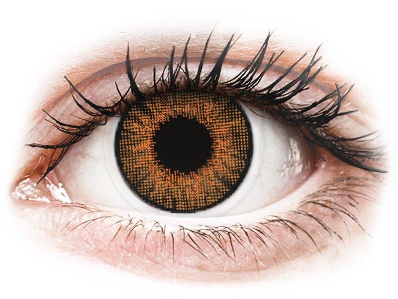 Медено (Honey) - Air Optix Colors - с диоптър (2лещи) - Coloured contact lenses