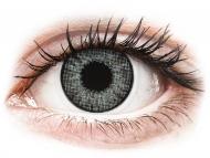 Сиви контактни лещи - c диоптър - Искрящо сиво (Sterling Gray) - Air Optix Colors - с диоптър (2 лещи)
