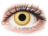 Жълти контактни лещи - без диоптър - Аватар (Avatar) - ColourVUE Crazy Lens (2 лещи)