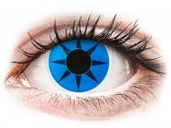 Maxvue Vision - цветни лещи - Синя звезда (Blue Star) - ColourVUE Crazy Lens (2 лещи)