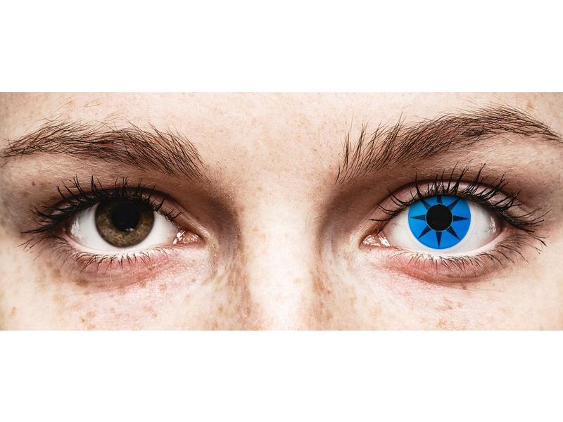 ColourVUE Crazy Lens - Blue Star - без диоптър (2 лещи)
