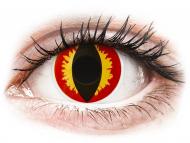 Жълти контактни лещи - без диоптър - Дракон (Dragon Eyes) - ColourVUE Crazy Lens (2 лещи)