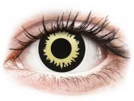Жълти контактни лещи - без диоптър - Жълти, затъмнение (Eclipse) - ColourVUE Crazy Lens (2 лещи)