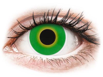 ColourVUE Crazy Lens - Hulk Green - без диоптър (2 лещи)