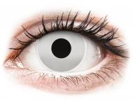 Бели контактни лещи - без диоптър - Огледални (Mirror) - ColourVUE Crazy Lens (2 лещи)