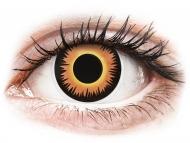 Жълти контактни лещи - без диоптър - Оранжеви, върколак (Orange Werewolf) - ColourVUE Crazy Lens (2 лещи)
