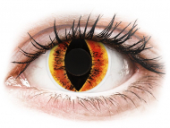 Оранжеви контактни лещи - без диоптър - Жълти, Окото на Саурон (Saurons Eye) - ColourVUE Crazy Lens (2 лещи)