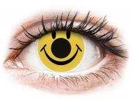 Жълти контактни лещи - без диоптър - Жълти, усмивка (Smiley) - ColourVUE Crazy Lens (2 лещи)