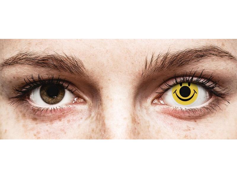 ColourVUE Crazy Lens - Smiley - без диоптър (2 лещи)