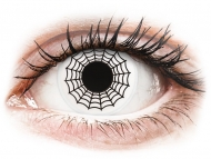Недиоптрични цветни лещи - Бели, паяк (Spider) - ColourVUE Crazy Lens (2 лещи)