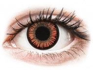 Оранжеви контактни лещи - без диоптър - Червени, Вампир (Vampire) - ColourVUE Crazy Lens (2 лещи)