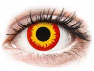 Жълти контактни лещи - без диоптър - Червени, Огън (Wildfire) - ColourVUE Crazy Lens (2 лещи)