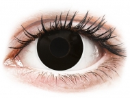 Черни контактни лещи - c диоптър - Черни, затъмнение (BlackOut) - ColourVUE Crazy Lens - с диоптър (2 лещи)