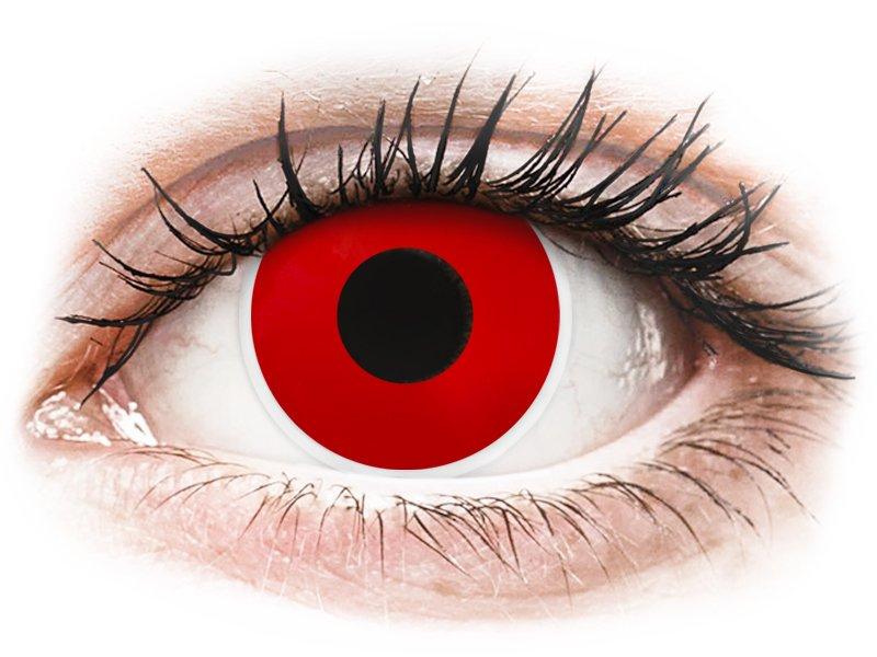 Червен дявол (Red Devil) - ColourVUE Crazy Lens - с диоптър (2 лещи) - Coloured contact lenses