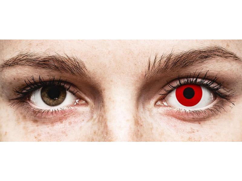 Червен дявол (Red Devil) - ColourVUE Crazy Lens - с диоптър (2 лещи)