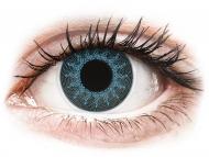 Сини контактни лещи - c диоптър - Сини (Solar Blue) - ColourVUE Crazy Lens - с диоптър (2 лещи)