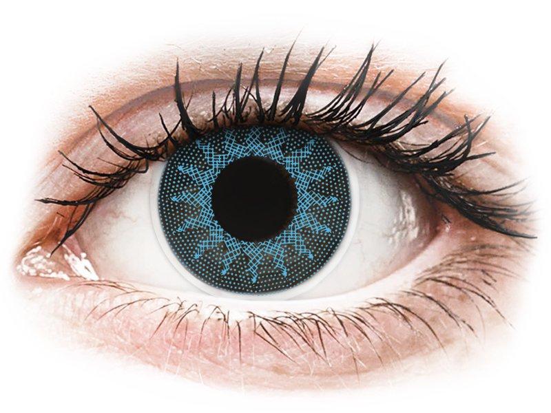 Сини (Solar Blue) - ColourVUE Crazy Lens - с диоптър (2 лещи) - Coloured contact lenses