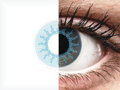 Сини (Solar Blue) - ColourVUE Crazy Lens - с диоптър (2 лещи)