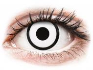 Бели контактни лещи - c диоптър - Бели Зомби (White Zombie) - ColourVUE Crazy Lens  - с диоптър (2 лещи)