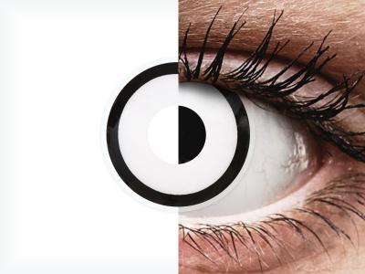 Бели Зомби (White Zombie) - ColourVUE Crazy Lens  - с диоптър (2 лещи)