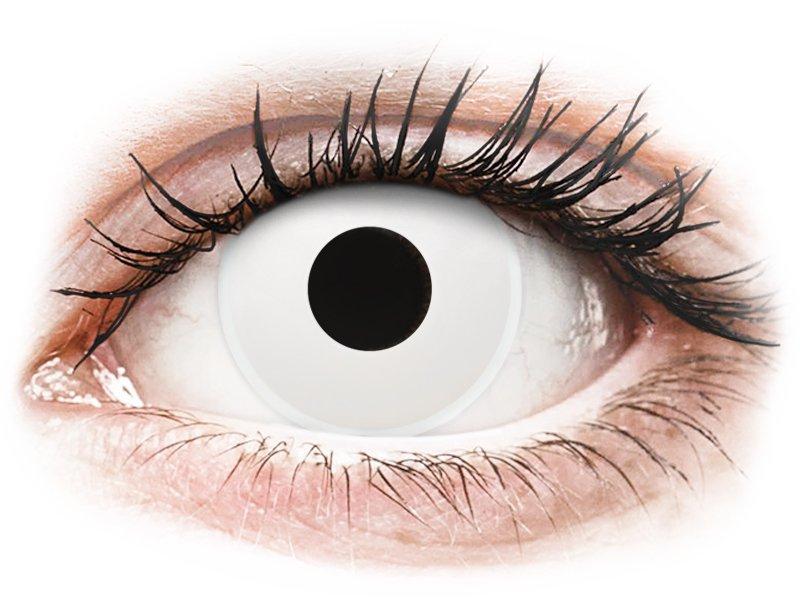 Бели (WhiteOut) - ColourVUE Crazy Lens - с диоптър (2 лещи) - Coloured contact lenses