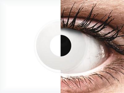 Бели (WhiteOut) - ColourVUE Crazy Lens - с диоптър (2 лещи)