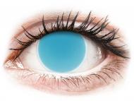 Недиоптрични цветни лещи - Електрическо сини, UV (Electric Blue) - ColourVUE Crazy Glow (2лещи)