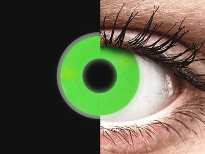 Зелени, UV светещи (Green) - ColourVUE Crazy Glow (2лещи)