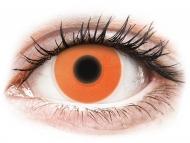 Оранжеви контактни лещи - без диоптър - Оранжеви, UV светещи (Orange) - ColourVUE Crazy Glow (2лещи)