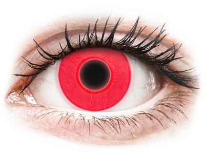 Червени, UV светещи (Red) - ColourVUE Crazy Glow (2лещи)