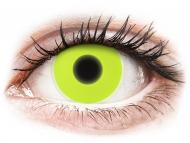 Жълти контактни лещи - без диоптър - Жълти, UV светещи (Yellow) - ColourVUE Crazy Glow (2лещи)